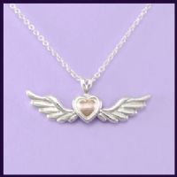 Angel Wings (Moveable) with 14ct Rose Gold Heart
